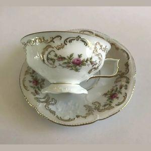 Rosenthal Sanssucci White Floral Teacup & Saucer